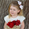 'Sweet Hearts' Big Double Bow Clip - Red - White - Baby/Girl - Valentine