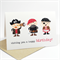 Happy Birthday Card - Boy - 3 Pirates Red and Black - HBC164