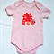 "Sale !! ""happy owl family"" appliqued onesie size 0 pink"