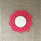Crochet mug/teapot doily coaster in cerise pink, Mother's day