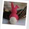 Easter Bunny Felt Catnip Toy (Hot Pink)
