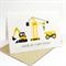Happy Birthday Card - Boy - Construction Time Excavator, Crane & Truck - HBC163