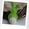 Easter Bunny Felt Catnip Toy (Lime Green)