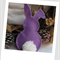 Easter Bunny Felt Catnip Toy (Mauve)