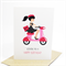 Happy Birthday Card - Female or Girl - Paris Pink Scooter - HBC162