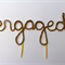 "Rustic ""Engaged"" Cake Topper FREE POSTAGE"