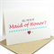 Will you be my Maid of Honor? card - Pink and Blue, Love Heart and Arrows WED040