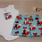 Baby Shorts Set - Shorts & Singlet Onesie - Funky Foxes - Size 00