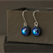 Hand beaded Swarovski crystal stone earrings. Eco-friendly sterling silver.