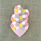 Set of 3, pale pink hearts, lavender sachet, flowers, Valentine, love