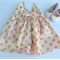 Baby Pink with Gold Spots Baby Girl Pinafore Dress, Girl, Baby, Toddler, Newborn
