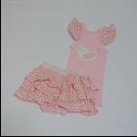 sale!! birdie appliqued ruffled singlet nappy cover newborn pink,mint