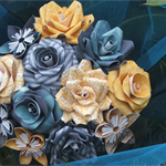 bouquet of small paper flowers