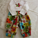 "Size 1 - ""What a Hoot"" Appliqued Onesie and Capri Pants"