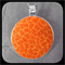 Orange Leafery: Large Bezel Set Pendant
