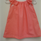 Girls Coral with Dots Dress with  Flutter Sleeves Size 0 with matching HeadWrap