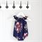 Memento Flowers Navy Blue Baby Playsuit / Onesie