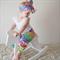 Harem Pants Sizes 0000-1 Rainbow floral colourful Michael Miller