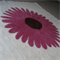 Handfelted Cream & Pink Flower Organic Merino Wool 1.5m sq Wallhanging 'Gerbera'