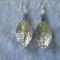 Blue Swarovski Crystal and Silver Leaf Earrings
