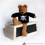 Killian - Hand Knitted Pirate Teddy Bear