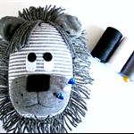 Sock Lion Pincushion - *ready to post*