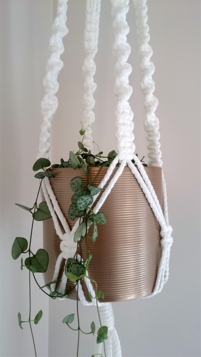 macrame pot plant hanger instructions