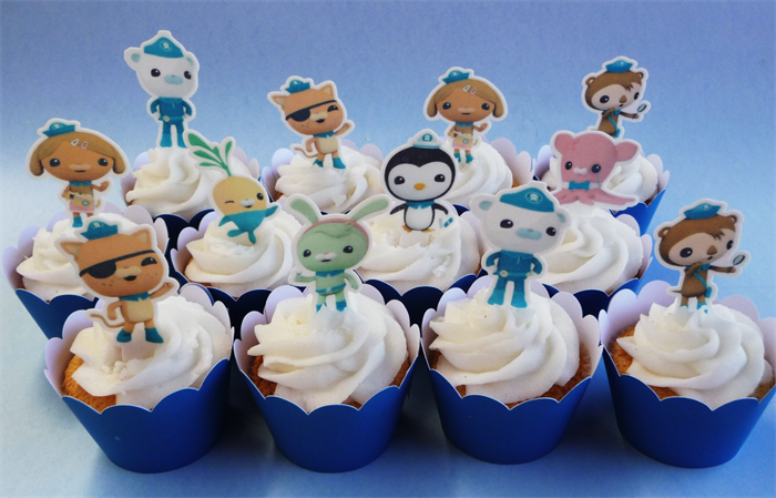 12x Octonauts EDIBLE cupcake cake toppers PRE-CUT stand up ...