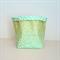 Green with Gold Dots Fabric Basket - Medium