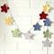 star garland   crochet bunting   boys nursery room decor   baby boy gift