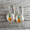 Glass dome hoop earrings - Pineapple