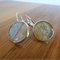 Japanese washi paper Resin Earrings