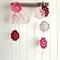 lottie | flower garland | crochet bunting | room decor | pink