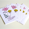 Card Sets| Card Packs| Greeting Card Packs|Floral Printed Cards|5 Pack| 5x7 inch