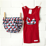 baby whale | baby bloomers & singlet outfit | gift | boy | red | LAST ONE