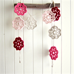 lottie | flower garland | crochet bunting | room decor | pink