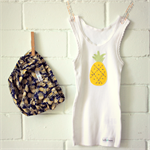 pineapple love | baby bloomers & singlet set | hand stitched | size 1