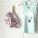 raindrops & whimsy | baby bloomers | raincloud singlet | newborn girl | gift