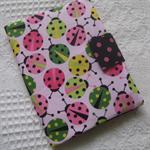 Crayon and Notepad Holder - Pink Ladybugs