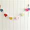 sweet hearts   crochet garland   girls nursery decoration   bunting