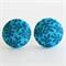 Buy 3 Get 1 Free! Blue Leaf Fabric Button Stud Earrings
