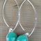 Sea Green Sterling Silver Fused Glass Drop Earrings