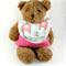 Baby Bucket Bib, Elephant Cotton Fabric, Bamboo toweling, Snap Closed.