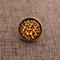 Leopard ~Round Antique Bronze Ring
