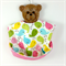 Baby Bucket Bib with Catch Tray, Bird Cotton Fabric Bamboo toweling, Snap Closed