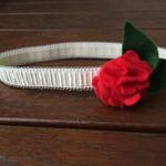 Red Poppy Felt Headband