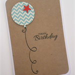 Handmade Card - personalised balloon birthday card