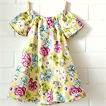 peasant dress | toddler | cotton | yellow floral | size 1
