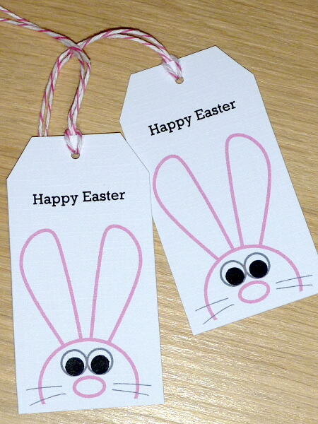 8 easter gift tags with cute easter bunny vicki g madeit 8 easter gift tags with cute easter bunny negle