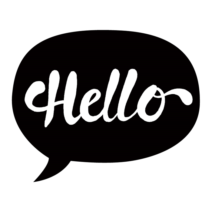 Greeting Card Hello Speech Bubble 120mm X 120mm Blank